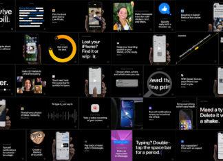 Página de funcionalidades del iPhone que ha publicado Apple