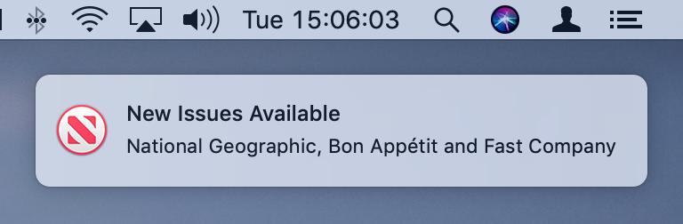 Indicios de suscripción a Apple News en macOS Mojave 10.14.14