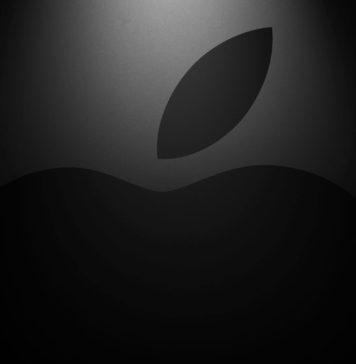 Logo de Apple con estilo cinematográfico