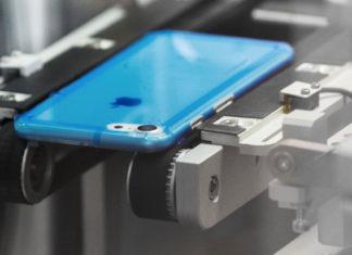 iPhone XR en la fábrica