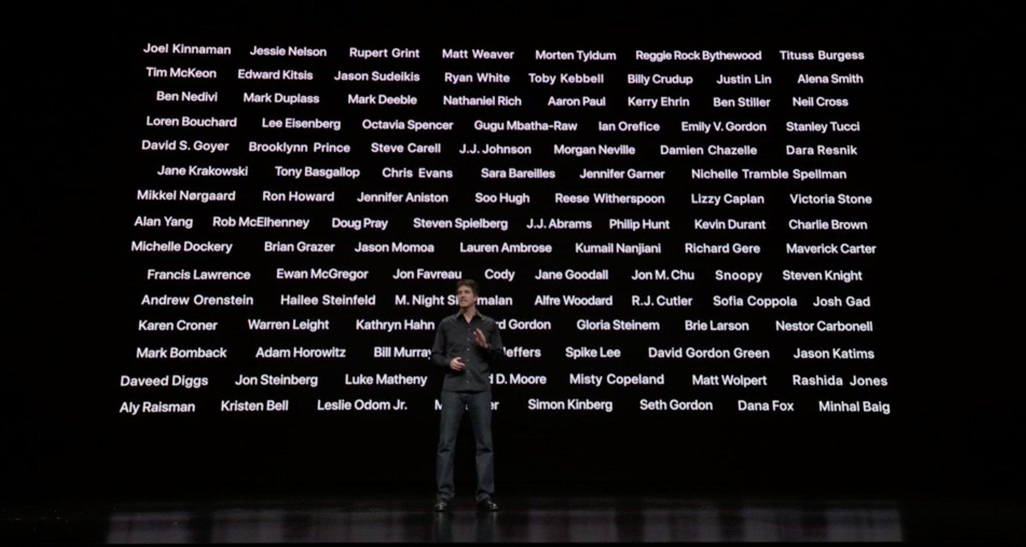 Todas las estrellas contratadas por Apple