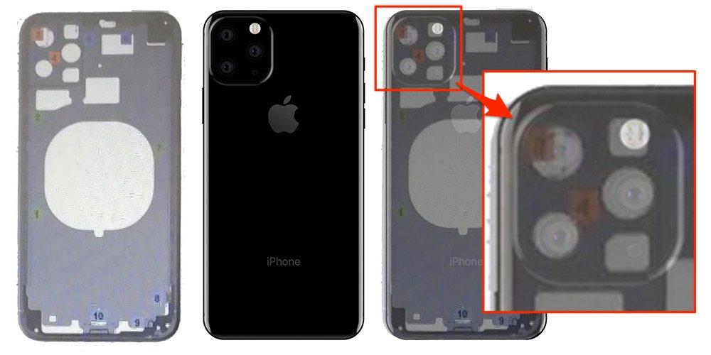 Imagen de una supuesta carcasa de iPhone con orificios para tres cámaras