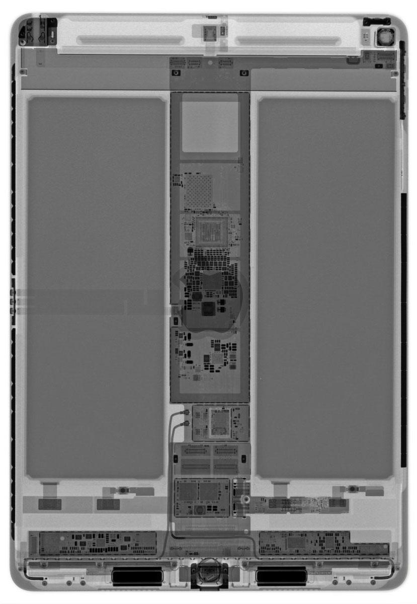 iPad Air 3 visto con rayos X