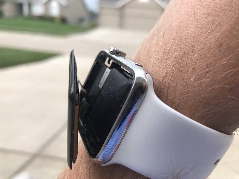 Apple Watch con la pantalla fuera
