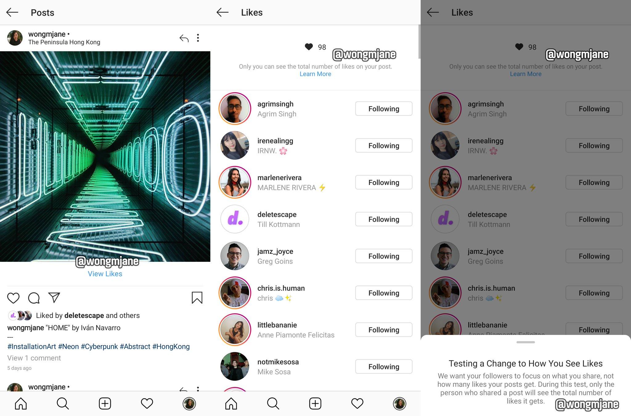 Instagram sin likes en las fotos