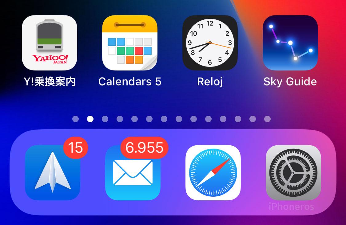 Dock en iOS 12