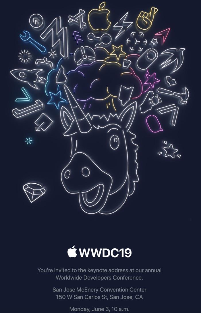 Invitación para la WWDC 2019