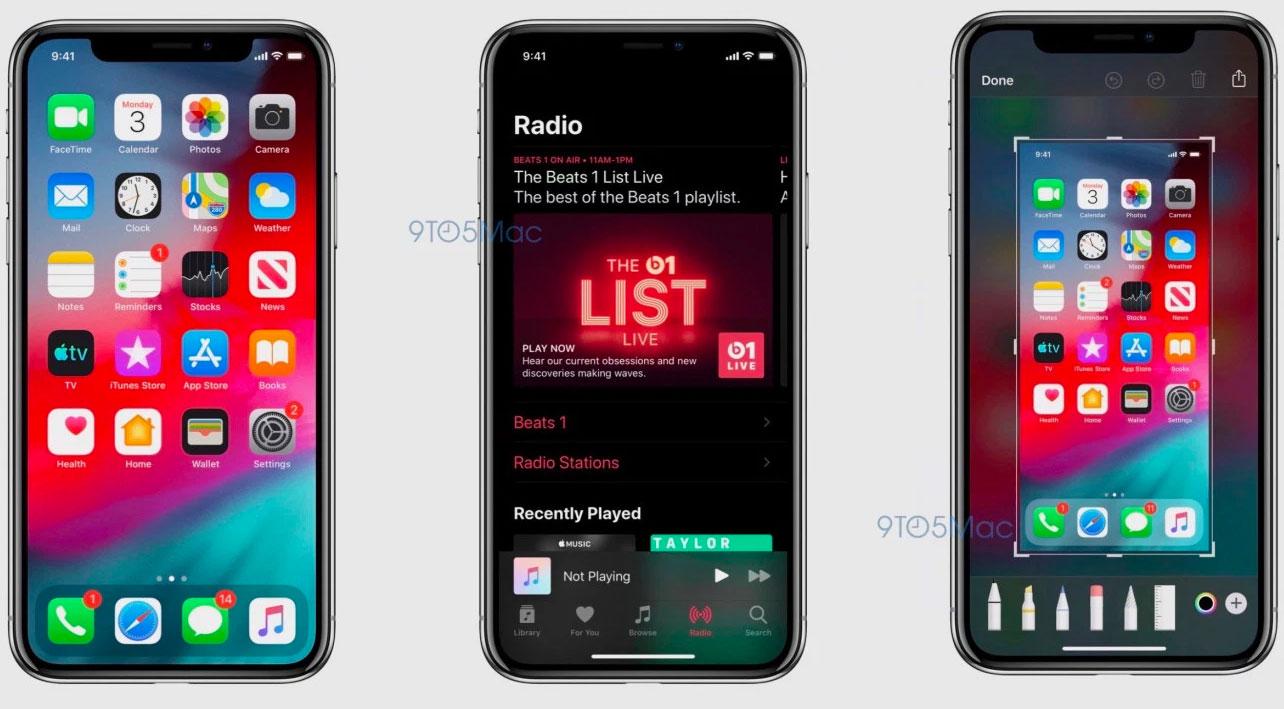Capturas de pantalla filtradas de iOS 13