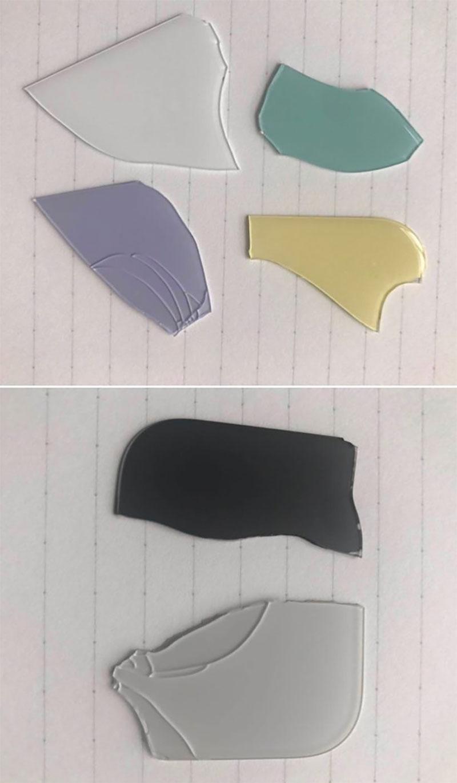 Piezas de cristal rotas que supuestamente pertenecen al iPhone XIR