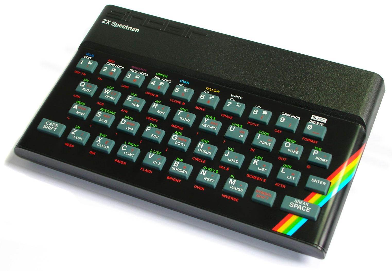 Sinclair ZX Spectrum 48K con teclas de goma