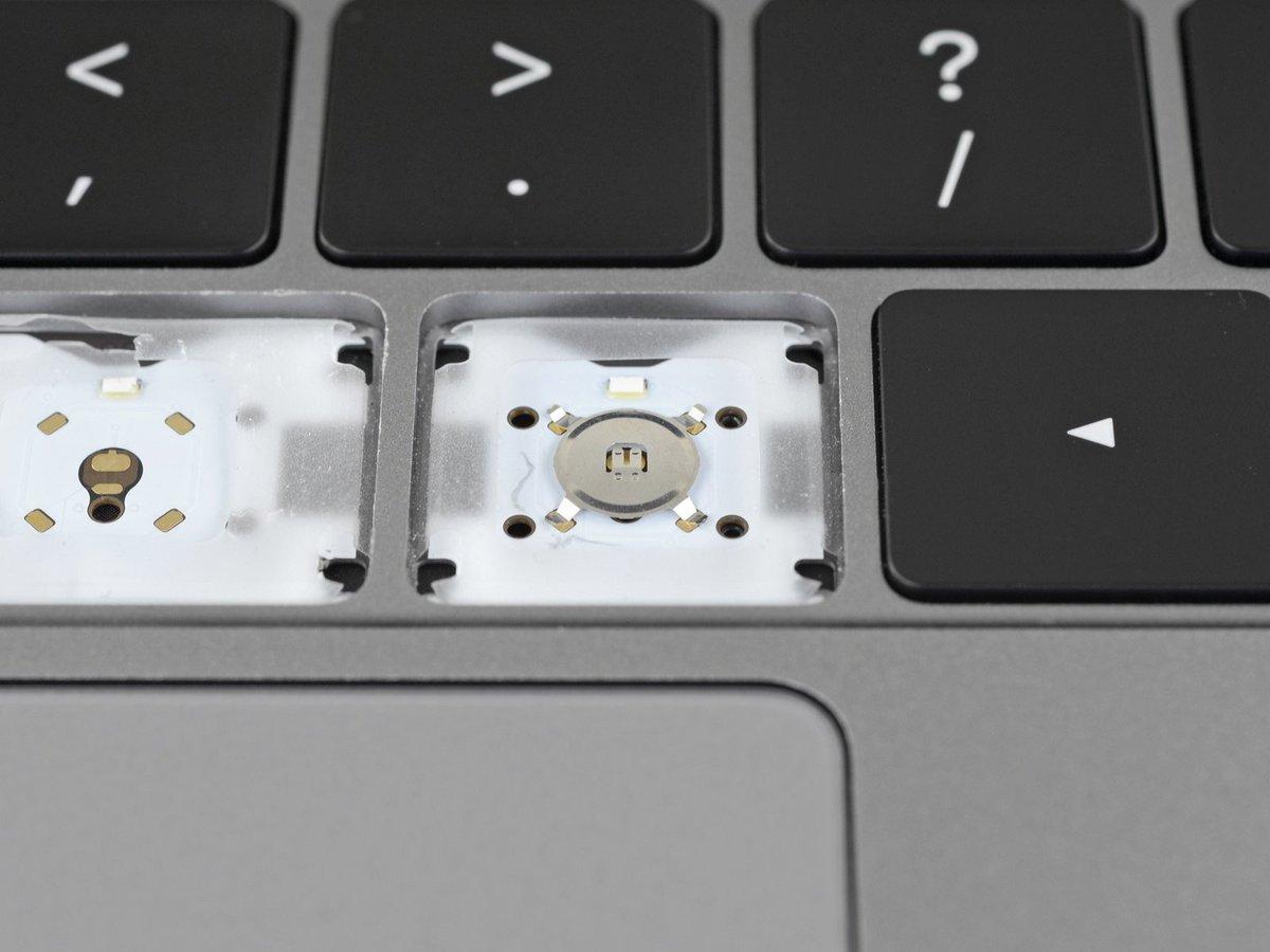 Teclado butterfly del MacBook Pro