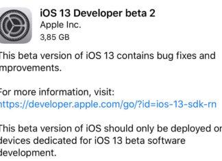 Beta 2 de iOS 13