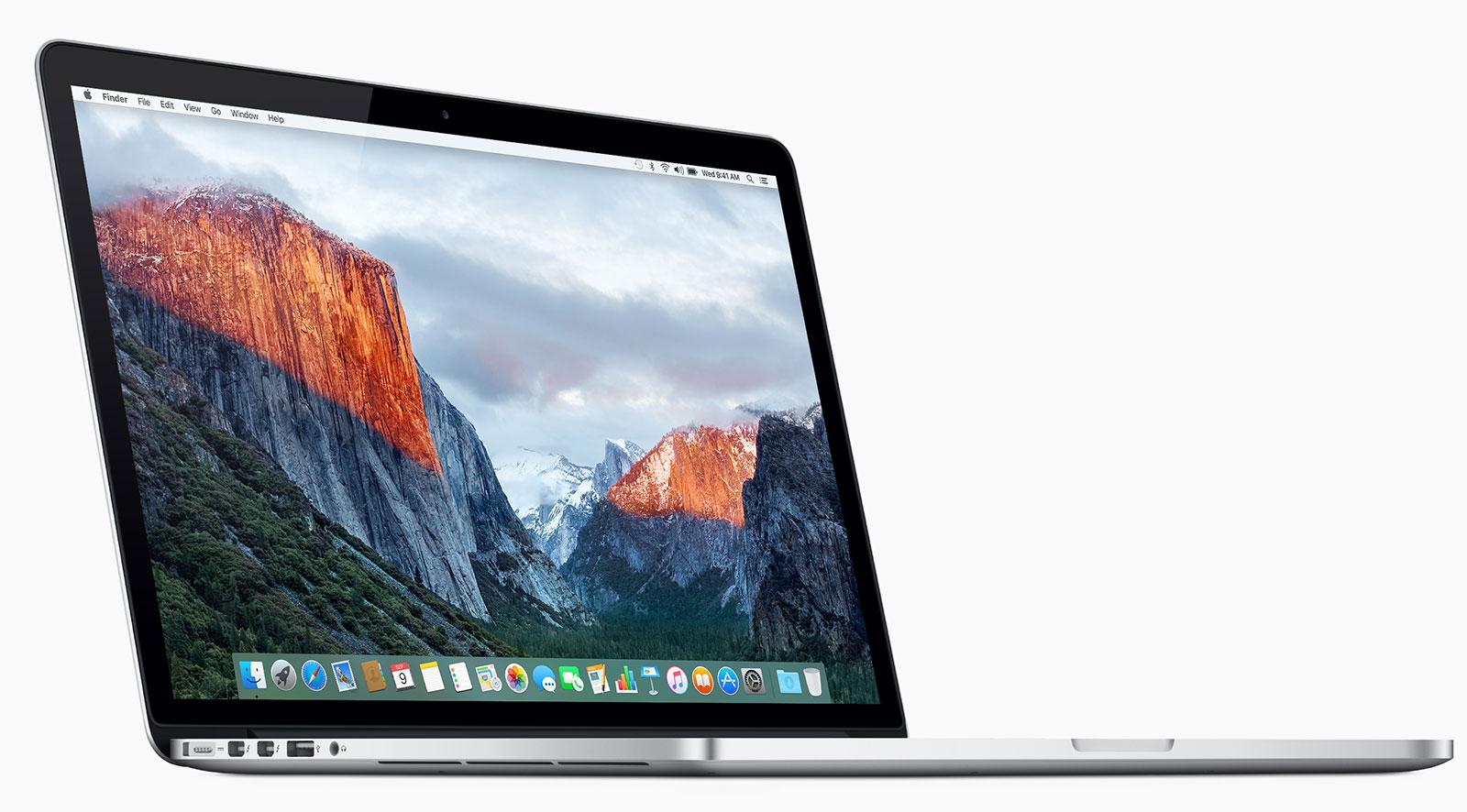 MacBook con pantalla Retina de 15 pulgadas