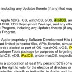 Mención a iPadOS en un archivo de Apple