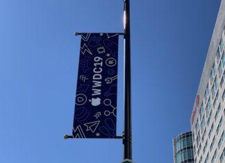 Carteles de la WWDC 2019 en paradas de autobus