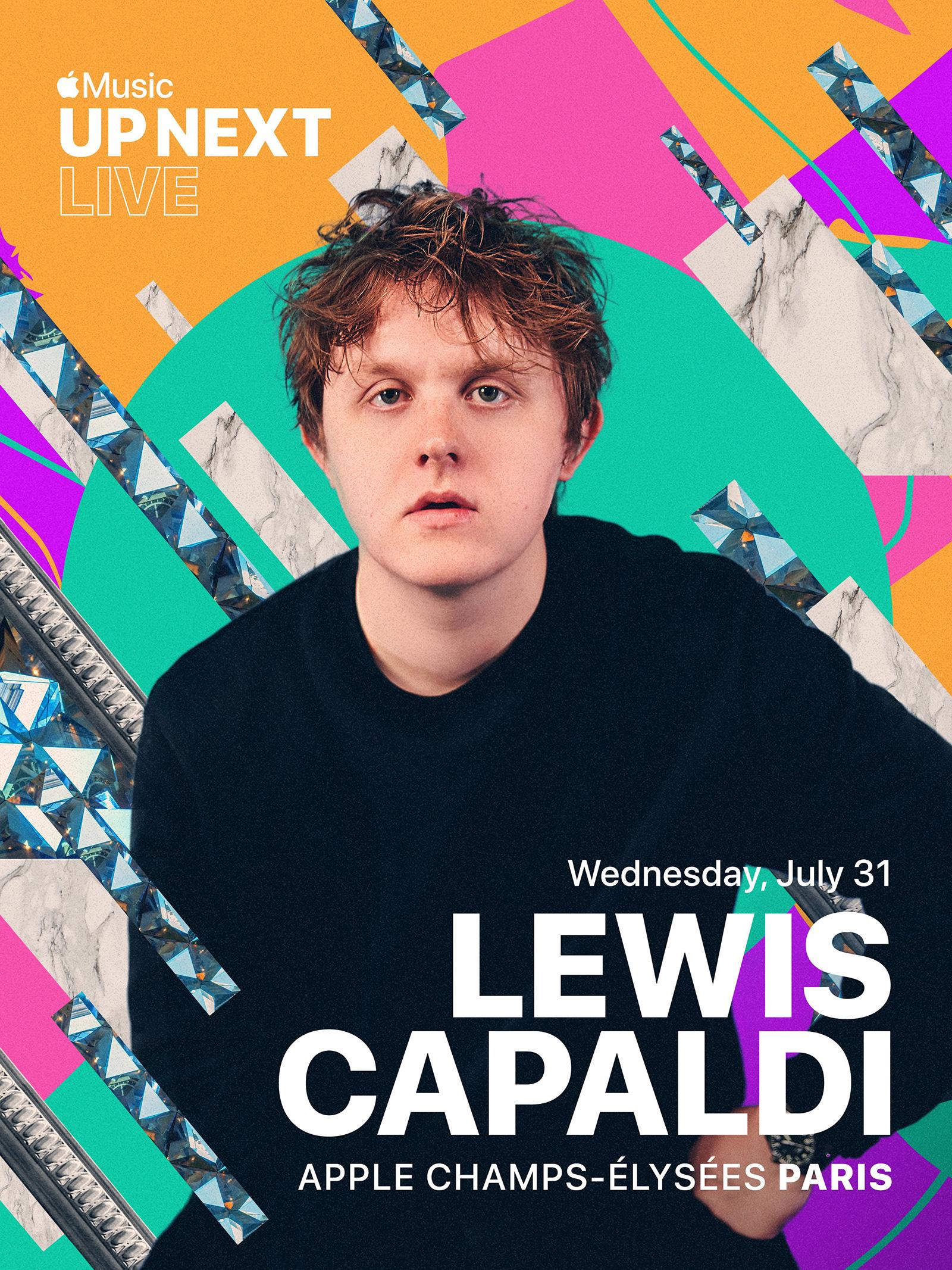Concierto de Lewis Capaldi en la Apple Store de Campos Elíseos de París