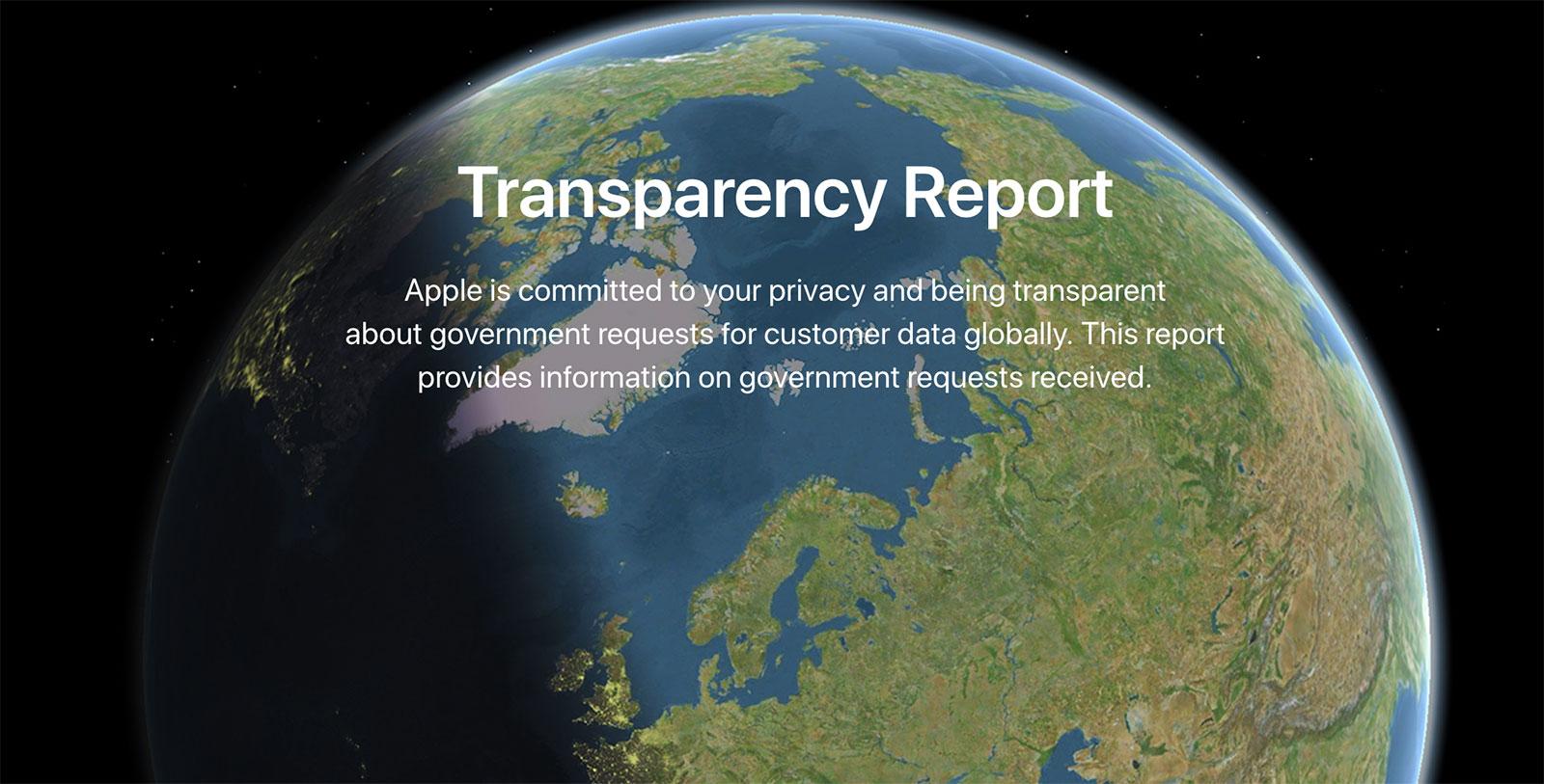 Informe de transparencia de Apple 2018