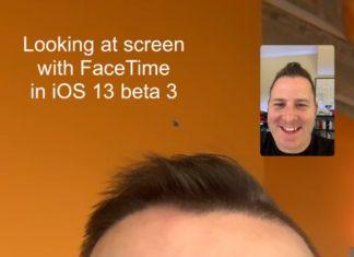 Usuario mirando a la cámara de un iPhone durante una llamada de FaceTime