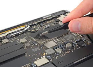 SSD del MacBook Pro de 13 pulgadas del 2019 por dentro