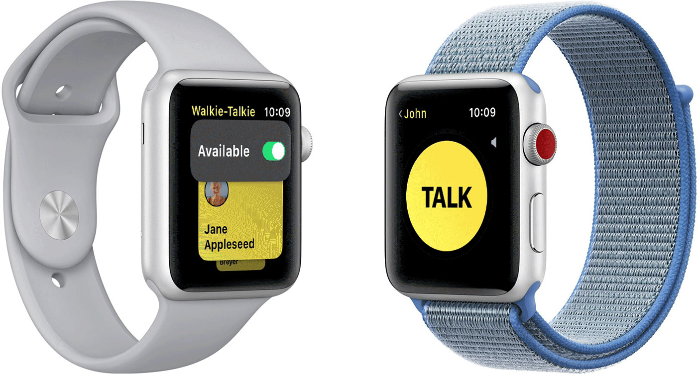 App de Walkie Talkie en el Apple Watch