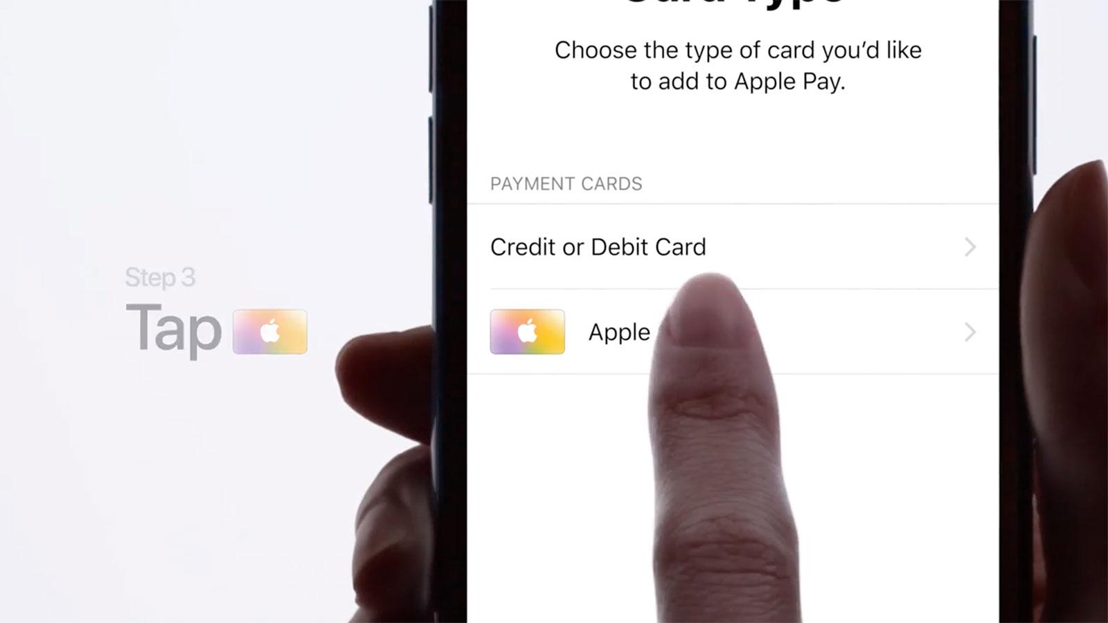 Añadiendo una Apple Card desde la App de Wallet