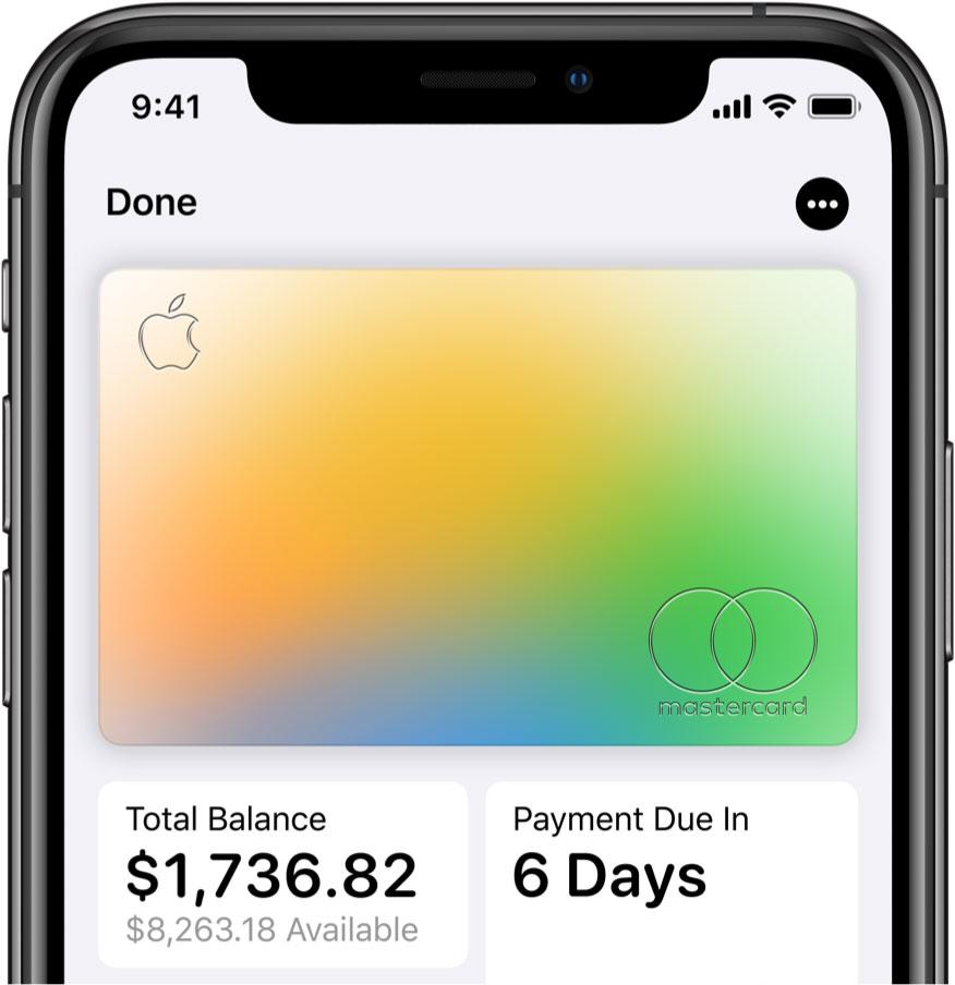 Apple Card en el iPhone