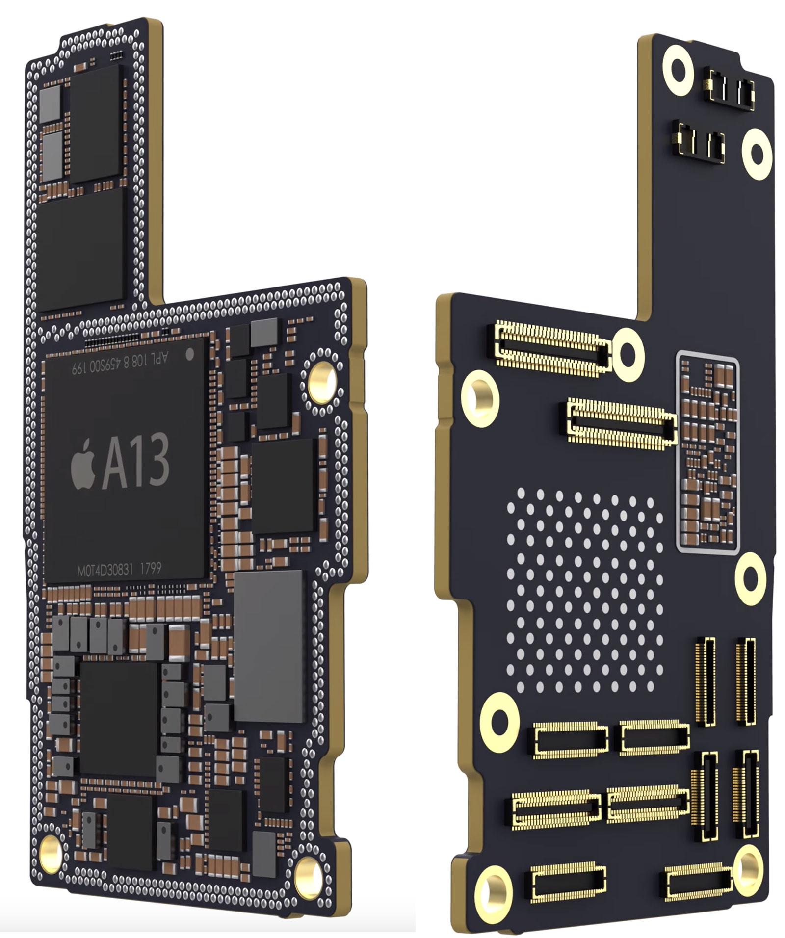 Supuesta placa base del iPhone 11