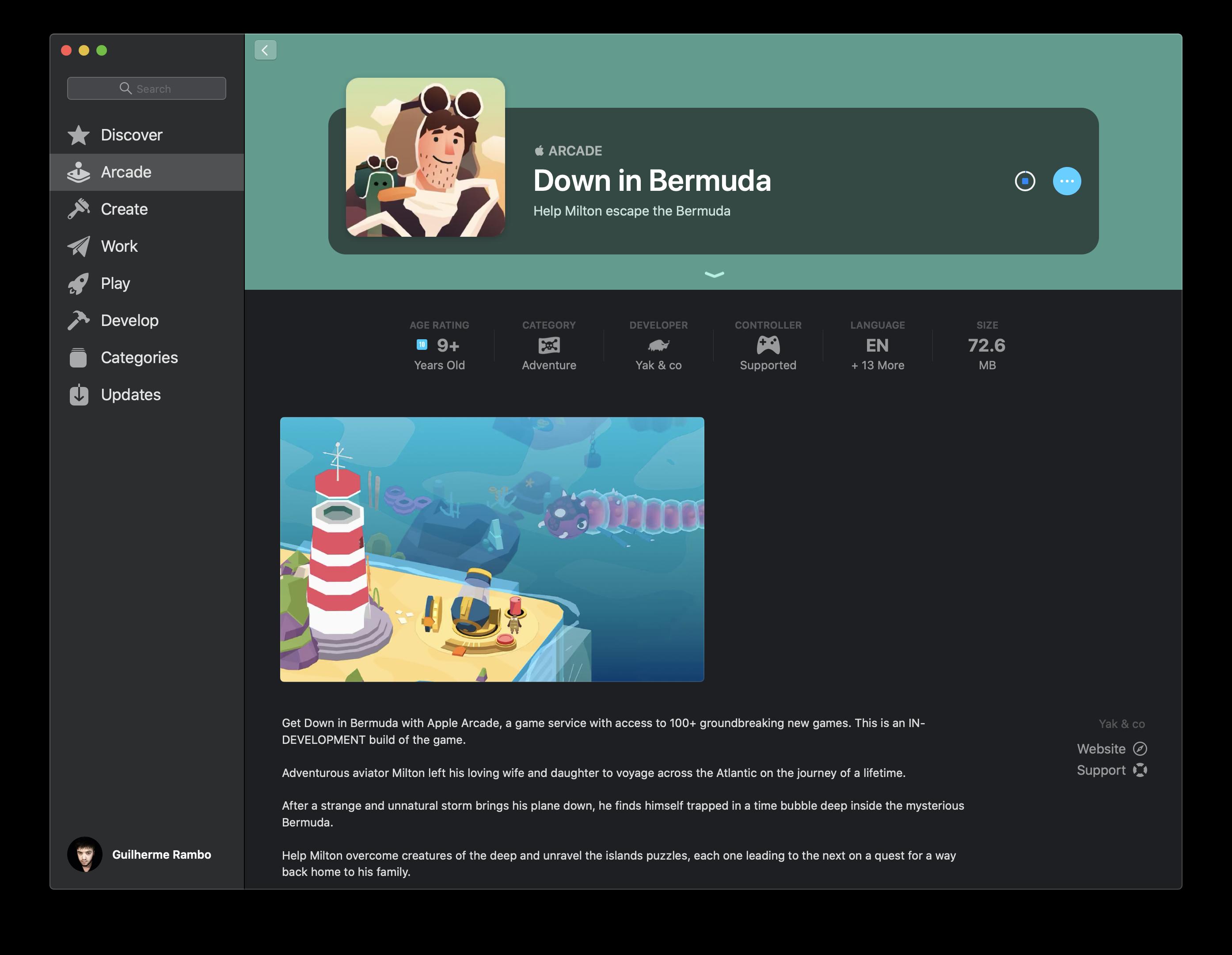 Captura de pantalla de Apple Arcade