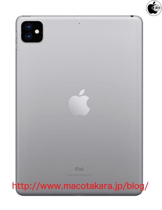 iPad normal con dos cámaras traseras