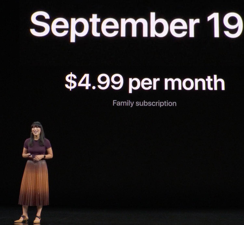 Fecha de lanzamiento y precio de Apple Arcade (Keynote)