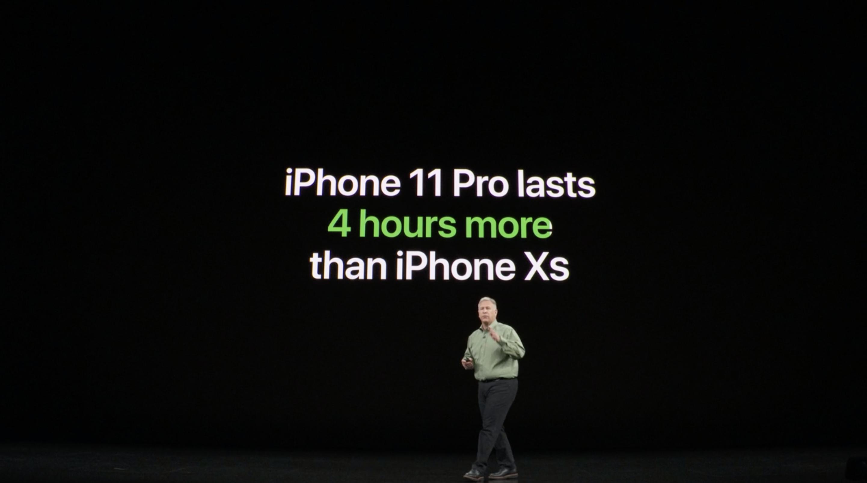 4 horas más de batería con el iPhone 11