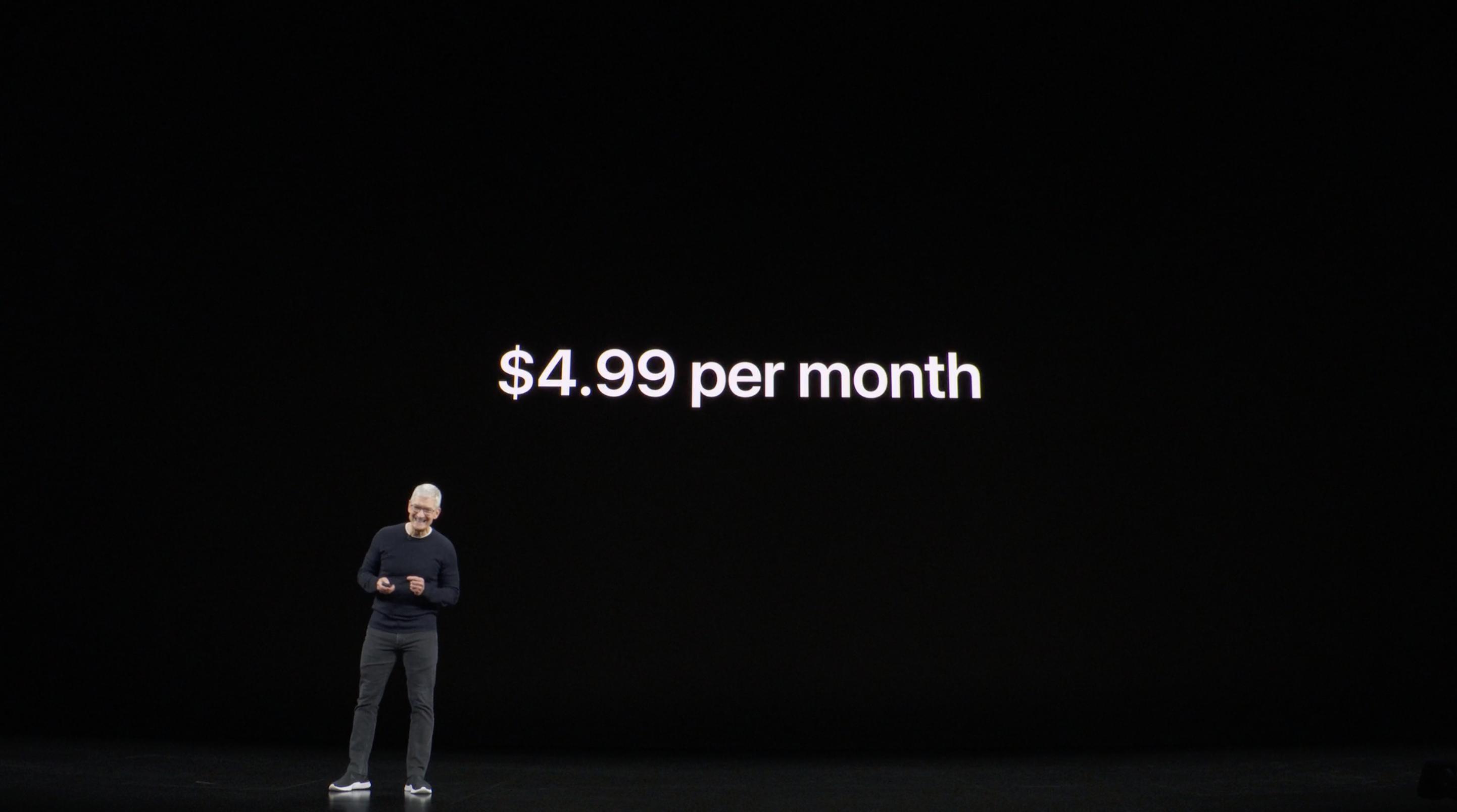 Precio de Apple TV+ (Keynote)