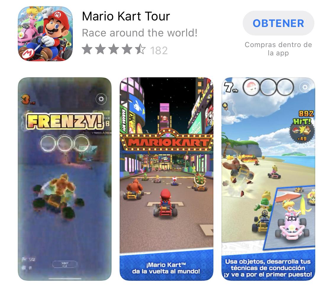 Mario Kart Tour ya disponible en la App Store
