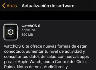 watchOS 6 ya disponible para todos
