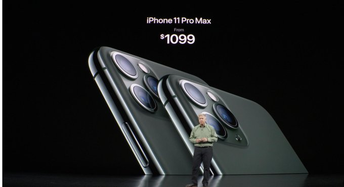 iPhone 11 Pro Max a 1099 dólares