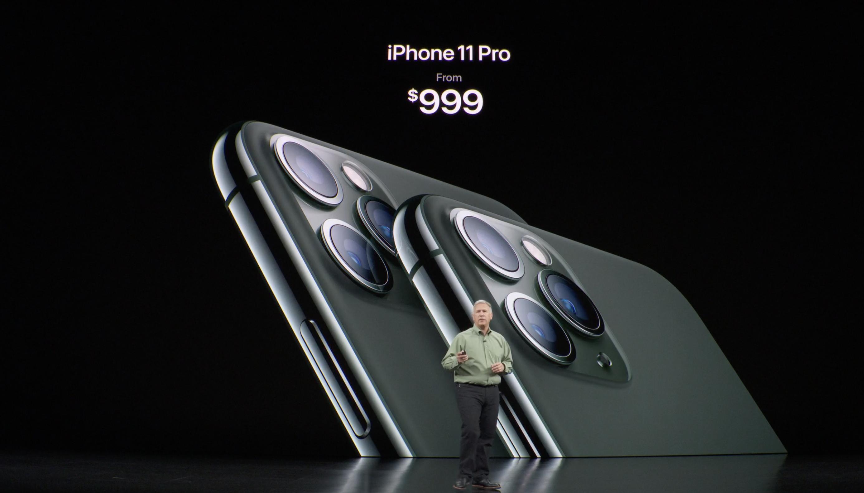 iPhone 11 Pro a 999 dólares