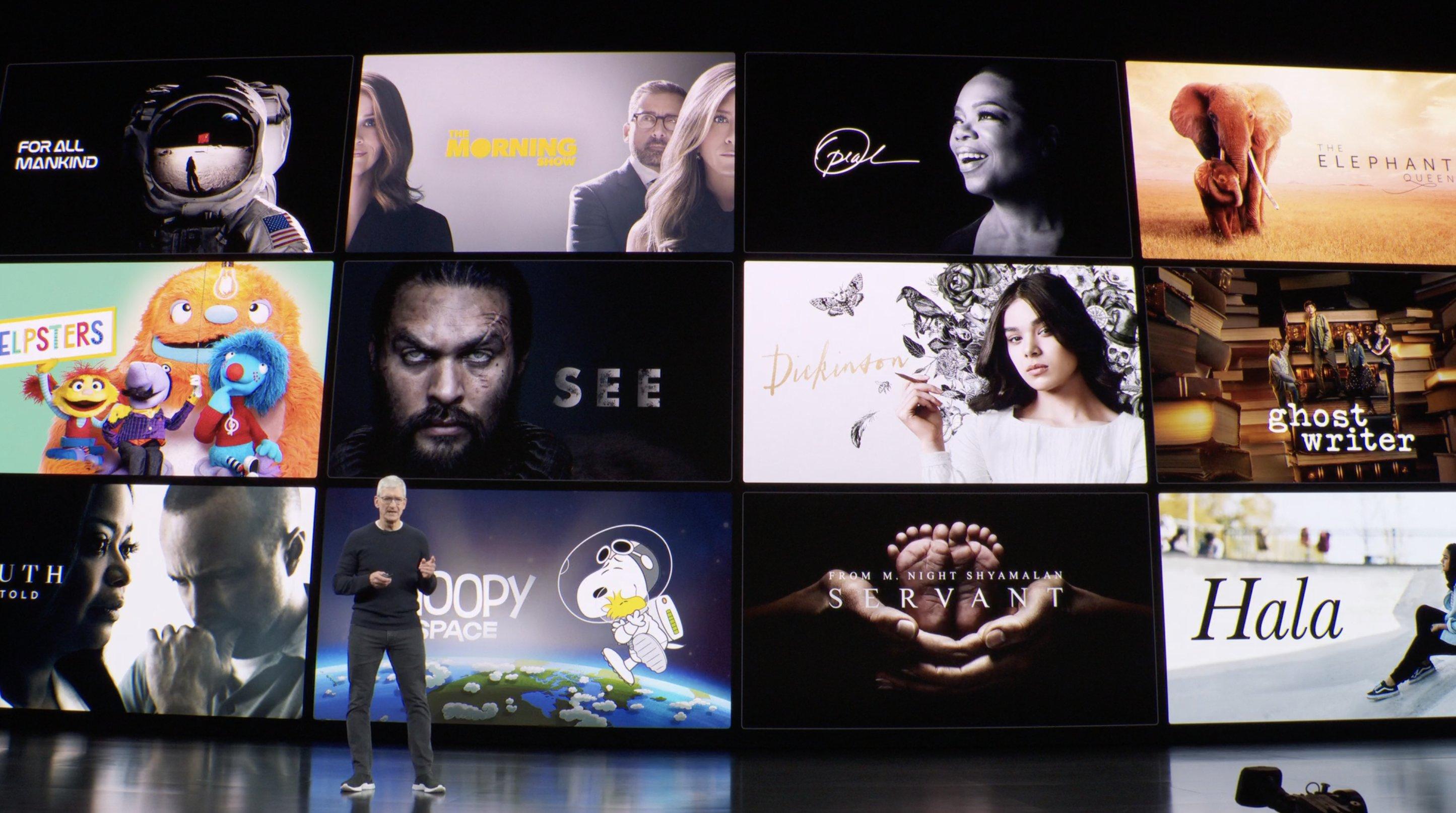 Tim Cook y Apple TV+ (Keynote)