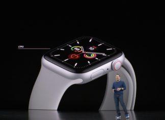 Apple Watch series 5 (Keynote) tipo de pantalla always on