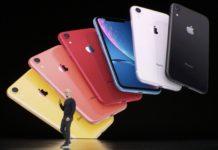 Keynote Septiembre 2019: Tim Cook delante del iPhone XR en todos sus colores