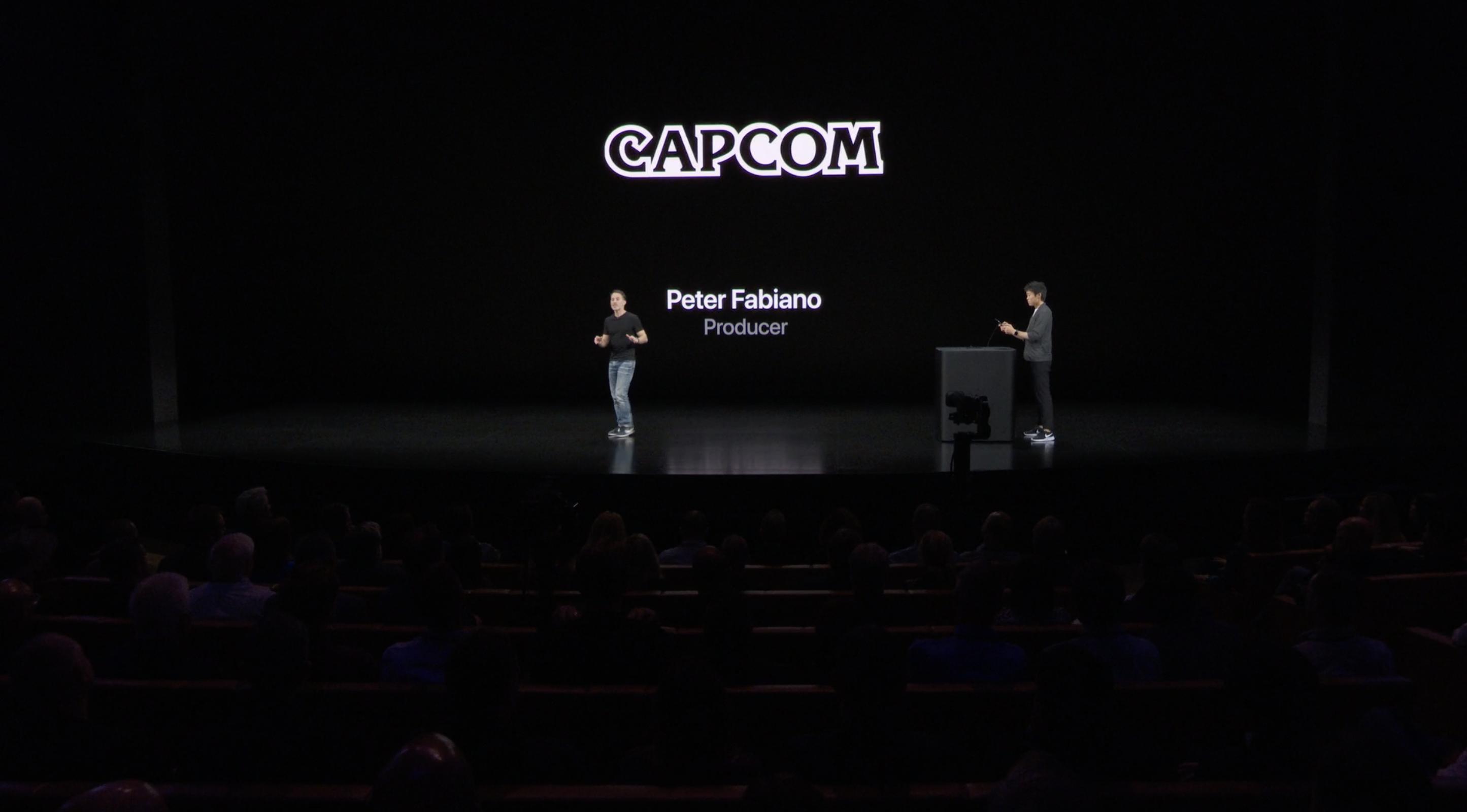 Capcom en el escenario de Apple