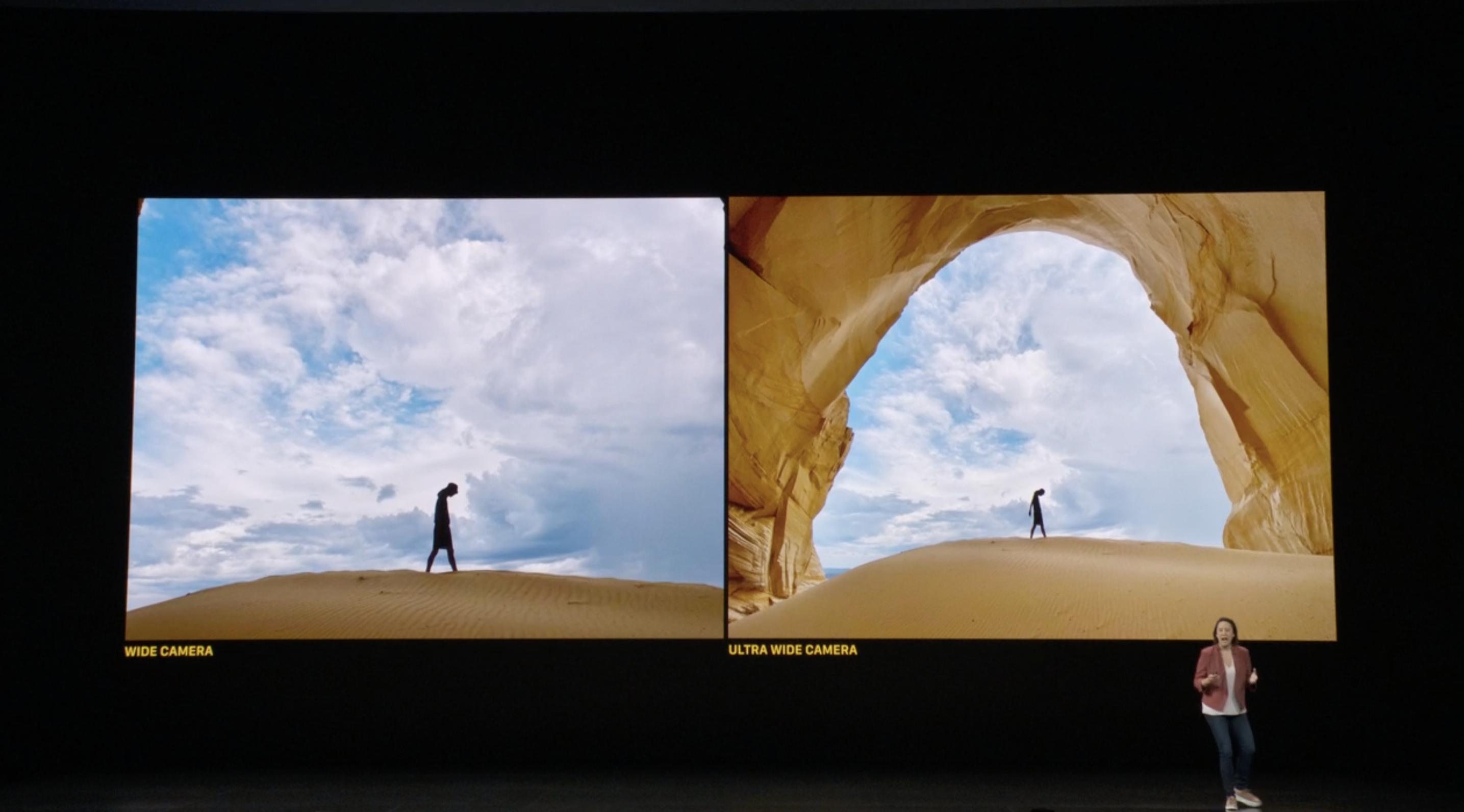Comparación de lentes del iPhone 11: Gran angular y normal