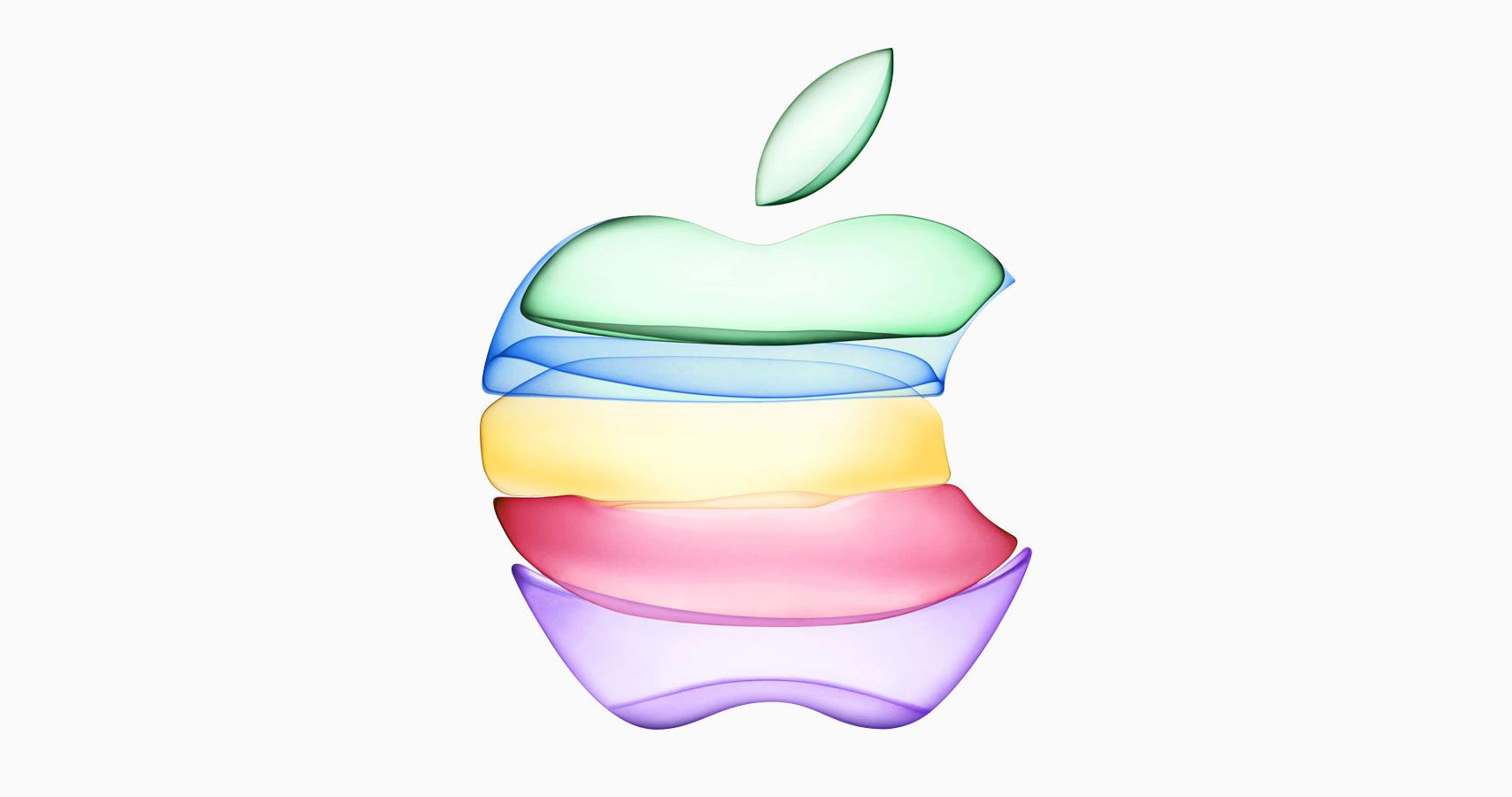 Logo de colores de Apple (presentación iPhone 11)