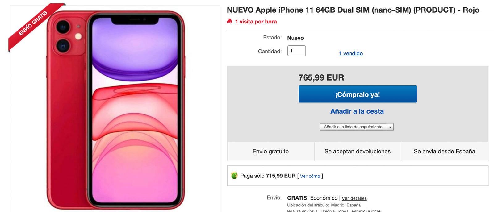 iPhone 11 a la venta en eBay