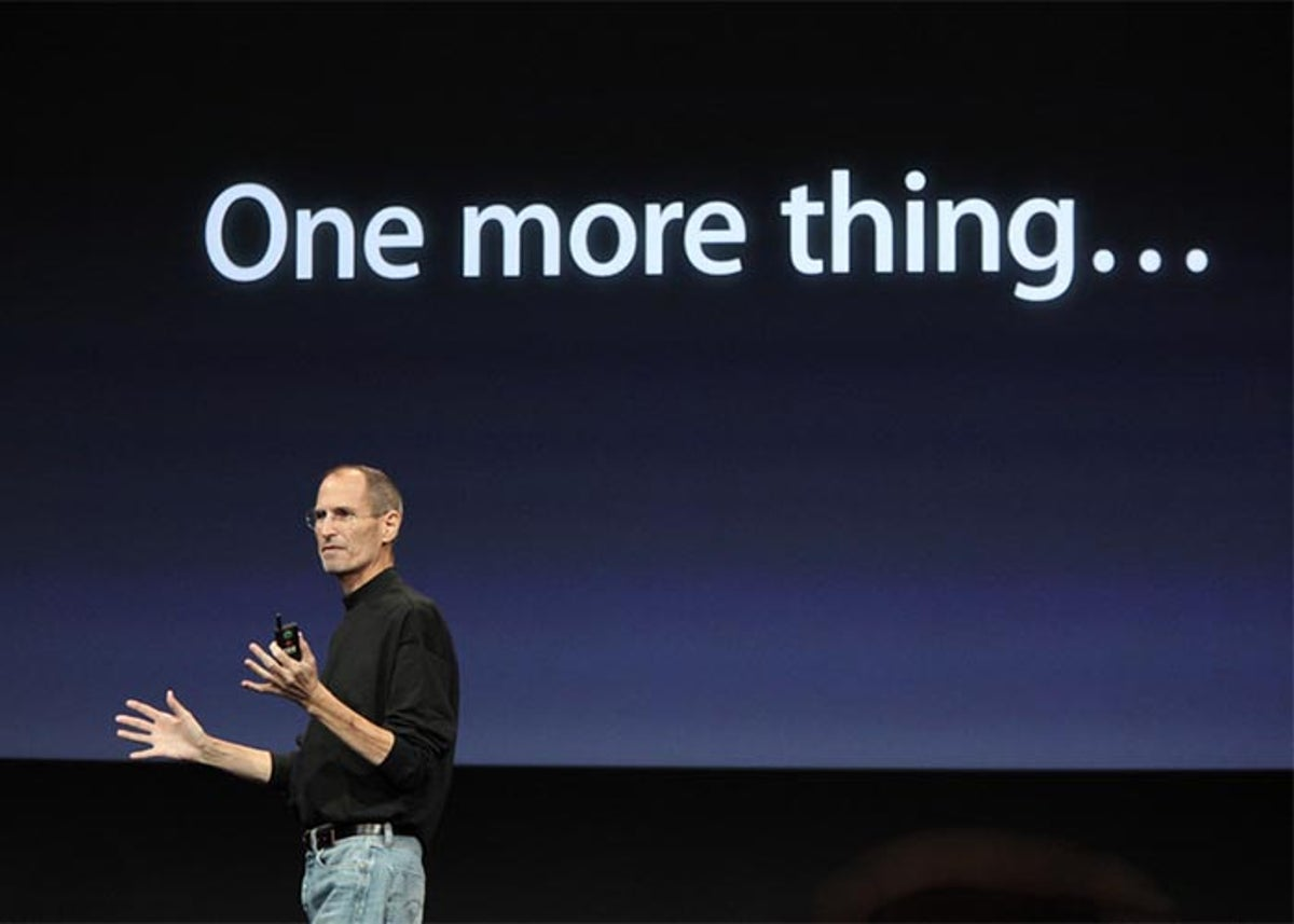 Steve Jobs con su One More Thing...