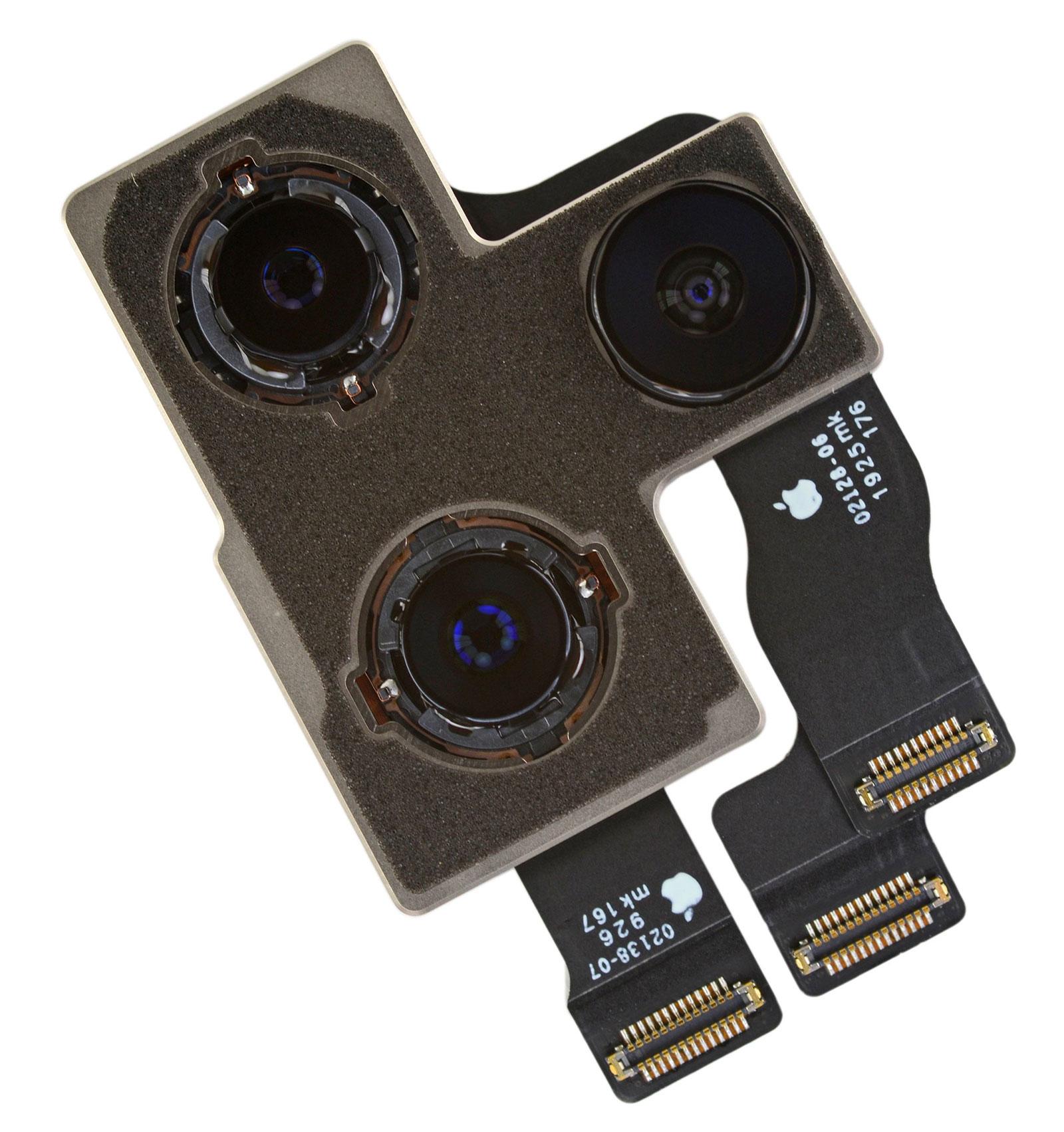 Módulo de tres cámaras traseras del iPhone 11 Pro Max