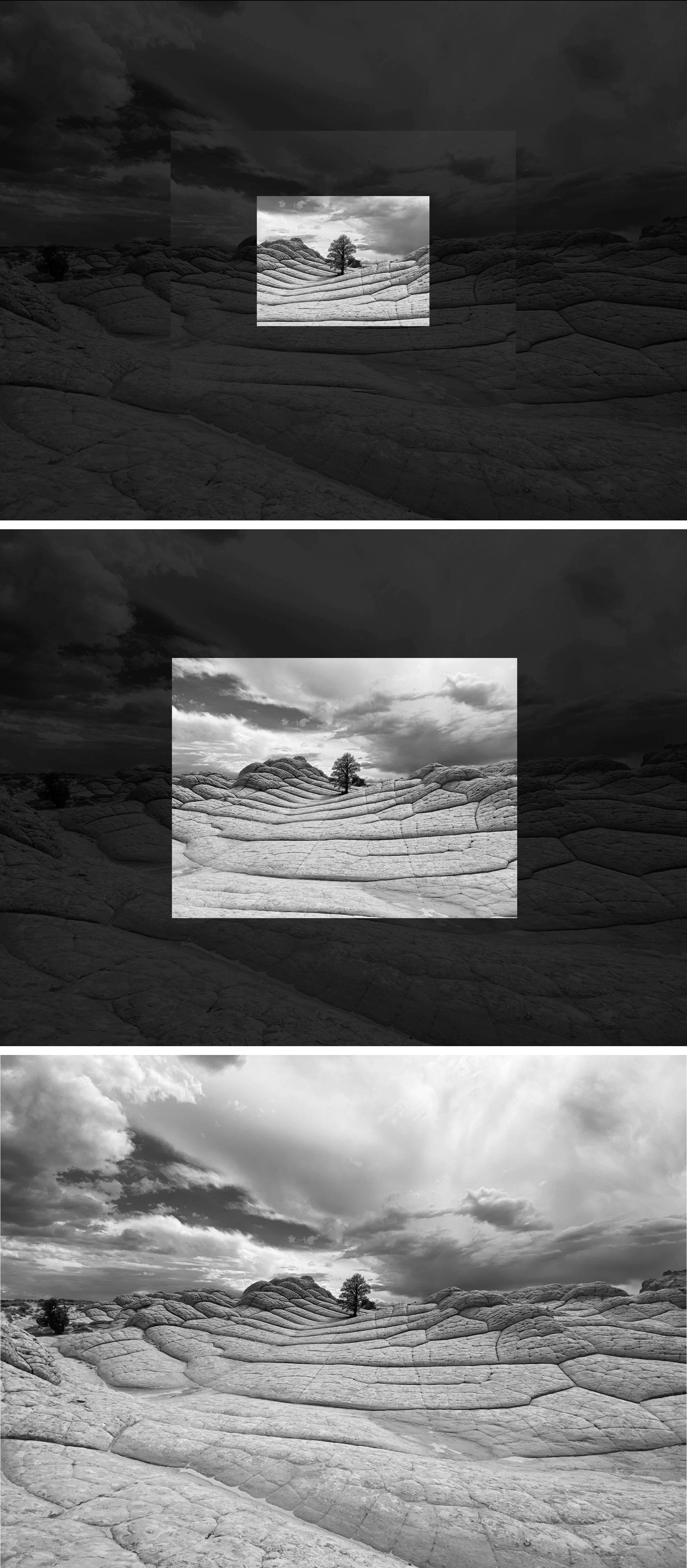 Fotografía  tomada con cada una de las tres cámaras del iPhone 11 Pro