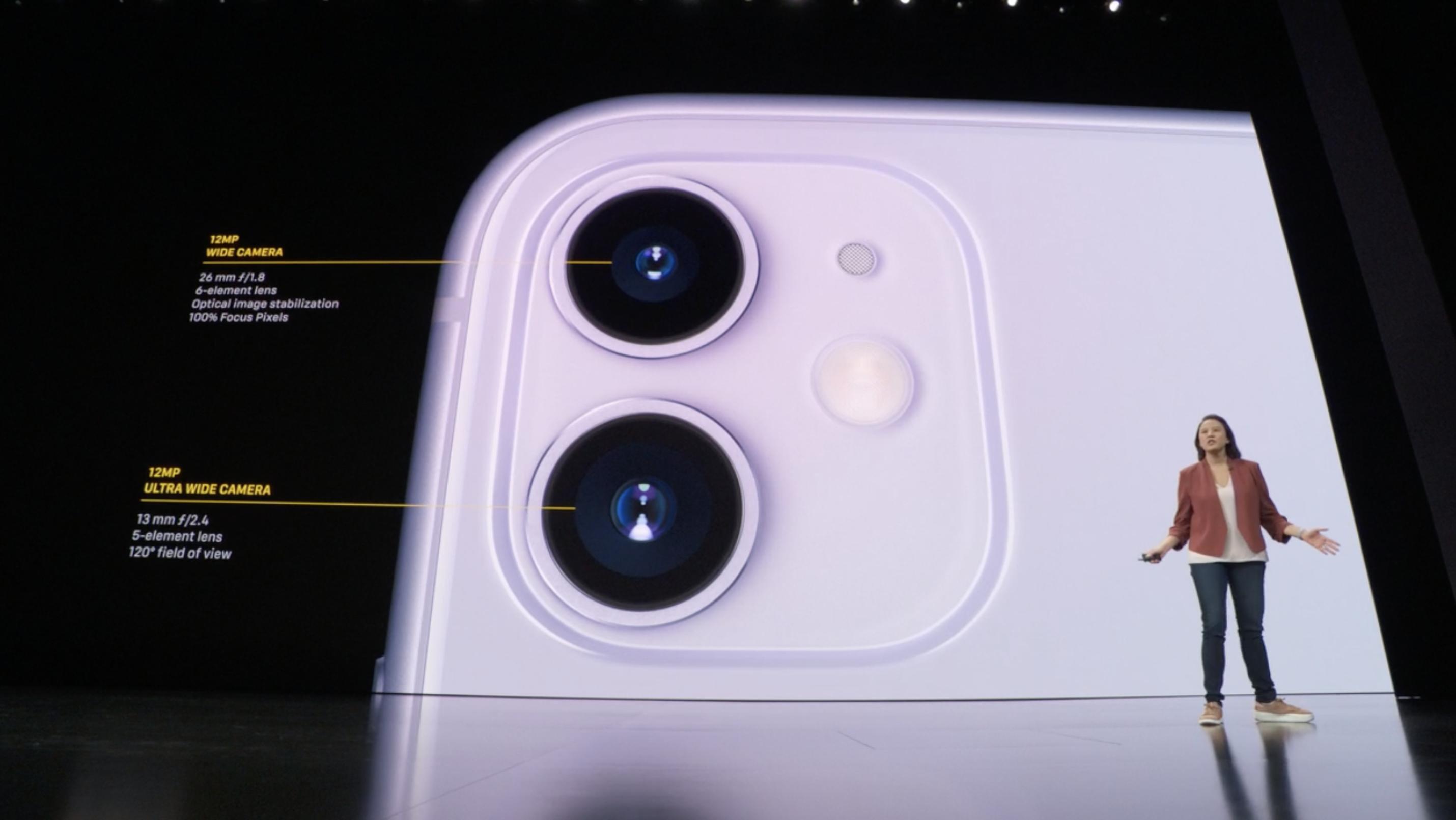 Especificaciones cámaras traseras del iPhone 11