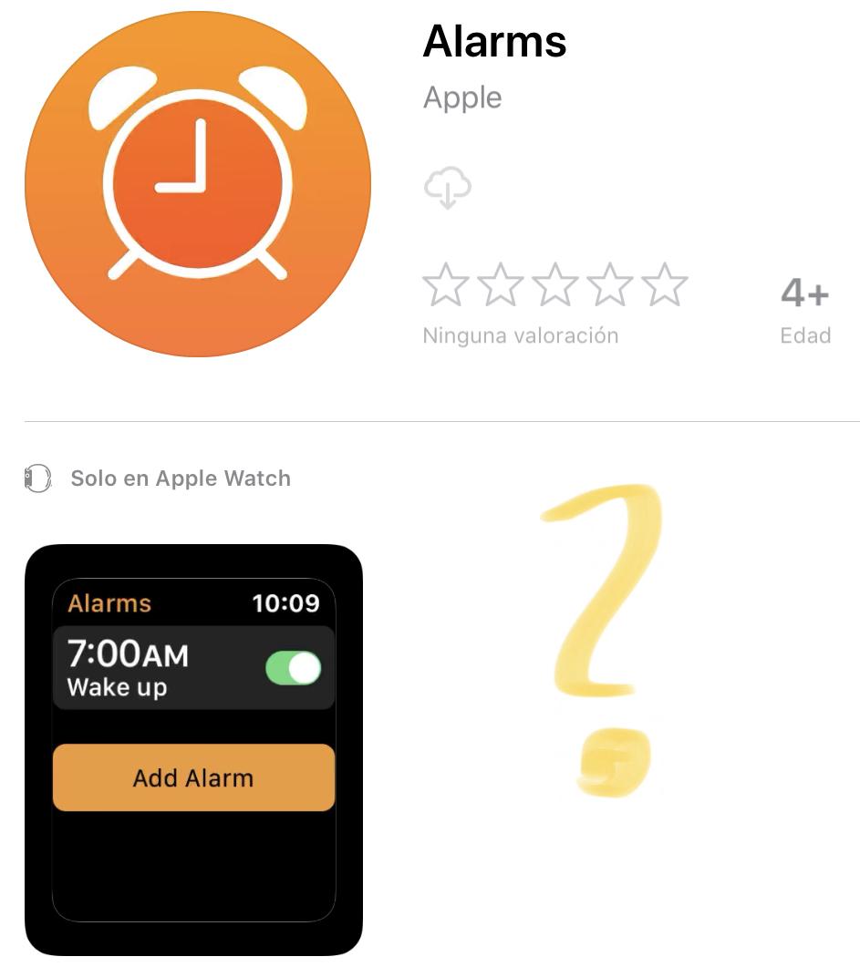 Mención a la App de Sleep eliminada de la captura de pantalla