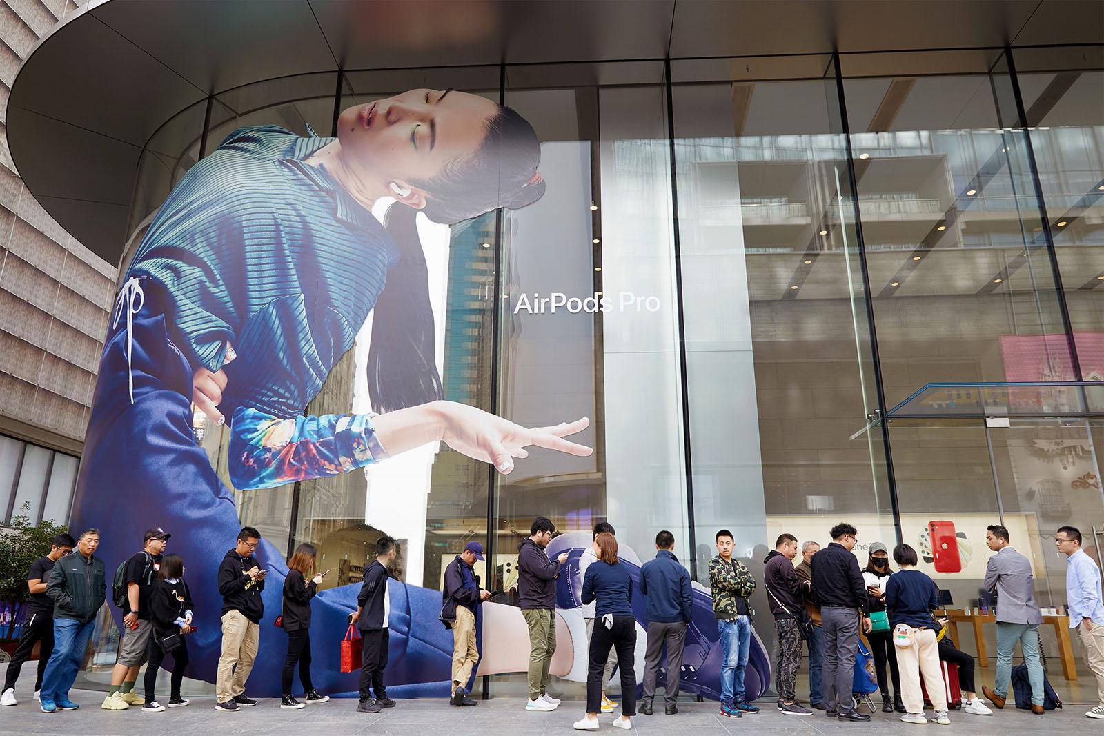Lanzamiento de AirPods Pro en Shanghai