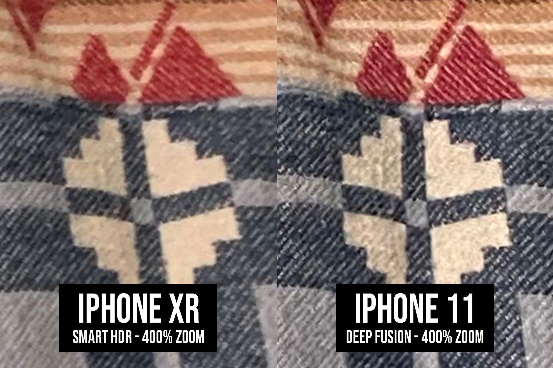 Comparación de fotos con Deep Fusion y sin él